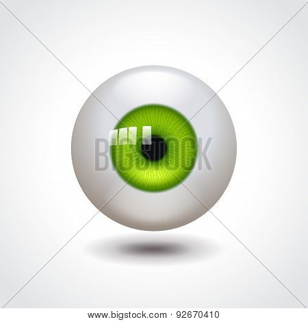 Green Eye Vector Illustration
