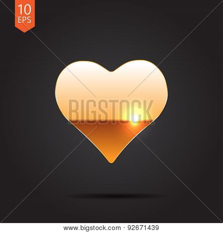 Vector game heart icon. Eps10