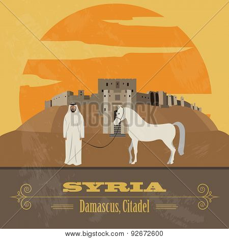 Syria infographics, statistical data, sights