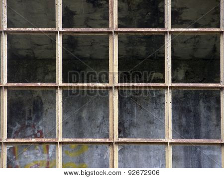 old and rusty steel industrial structure