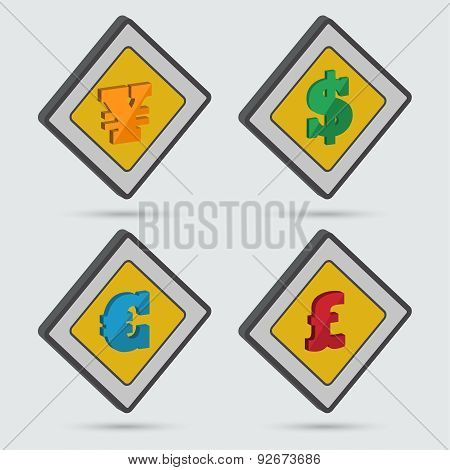 ?ollection Of Four Isometric Signs
