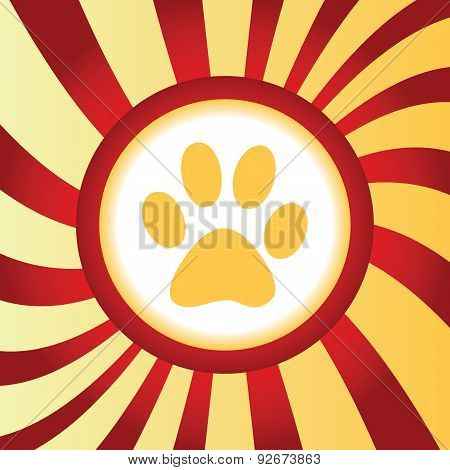 Paw print abstract icon