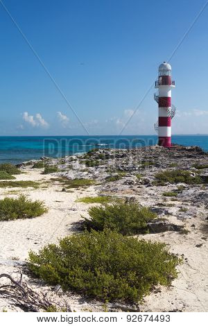 Lighthouse in the Carribean sea