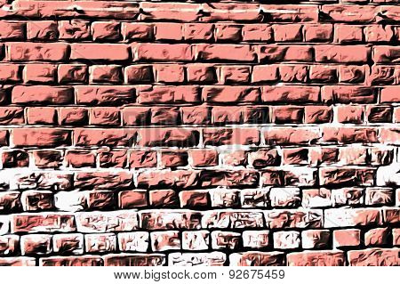Wall masonry art soft pink style