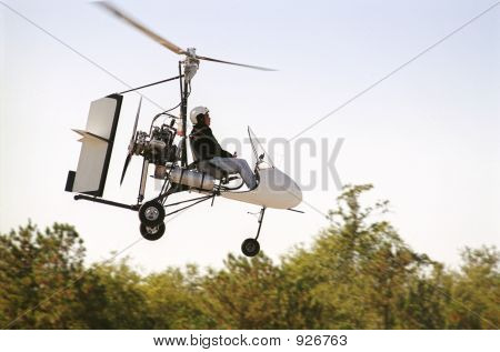 Gyrocopter In Flight
