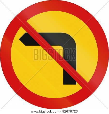 No Left Turn In Iceland