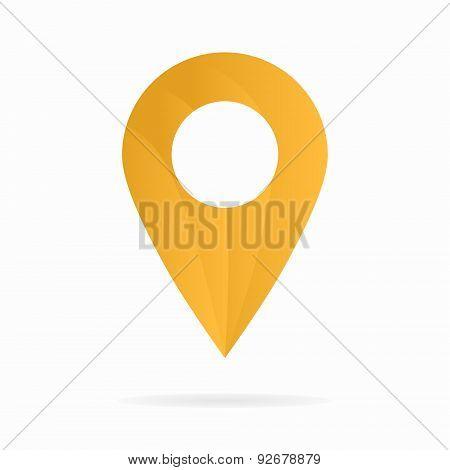 Vector map pointer logo