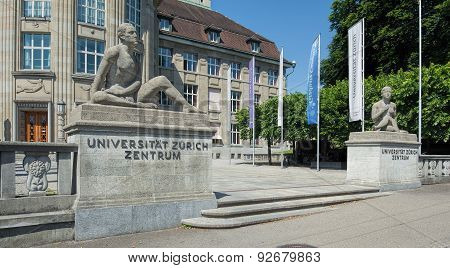 Entrance To The University Of Zurich