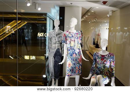 HONG KONG - JUNE 02, 2015: Hong Kong shopping mall interior. Hong Kong shopping malls are some of the biggest and most impressive in the world