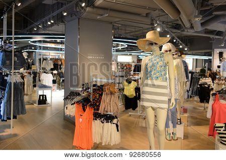 HONG KONG - JUNE 01, 2015: Hong Kong shopping mall interior. Hong Kong shopping malls are some of the biggest and most impressive in the world