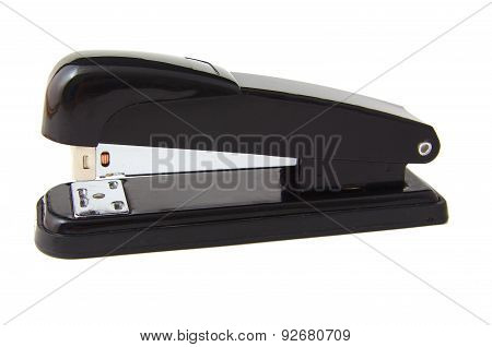 Black professional stapler isolated on a white background
