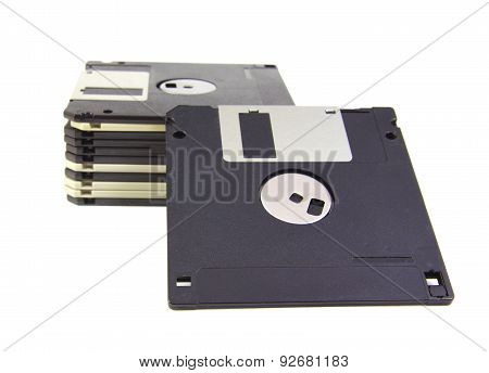 Diskettes isolated on white background