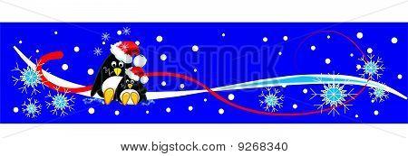 Cute penguins banner