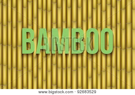 Yellow Bamboo background. Vector