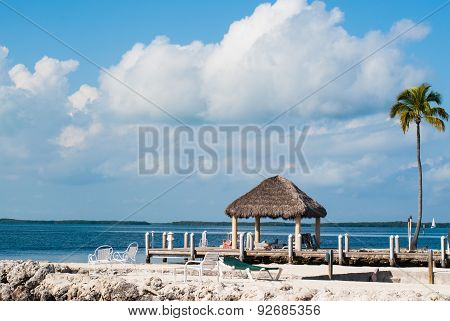 Ocean And Dock In Key Largo