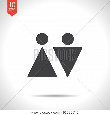 Vector heterosexual couple icon. Eps10
