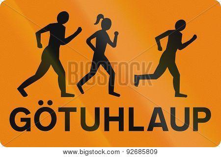 Organized Street Running In Iceland