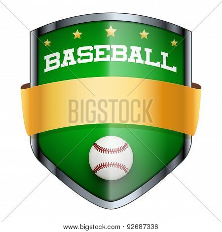 Baseball Shield badge.
