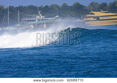 Ocean Blue Wave