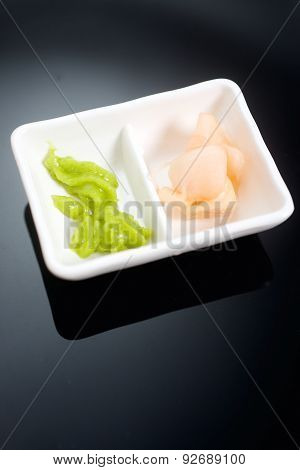 Traditional Japanese dish for wasabi