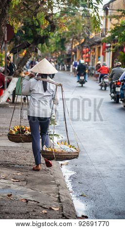Street vendor in Hoi An, Vietnam