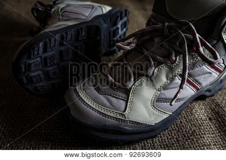 Pair Of Hiking Boots.