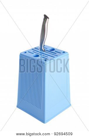 Knife Block. Knife Block On Background. Knife Block On A Background.