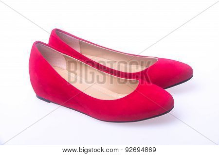 Shoe. Red And Fashion Woman Shoes On A Background.
