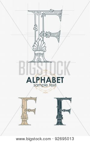 Sign design element. Vector illustration. Abstract ornate curly