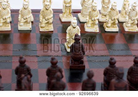old Chinese chess, beginning of the game