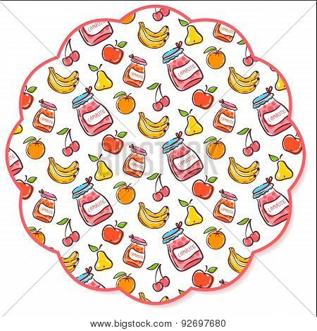 Fruit Decorated Napkin