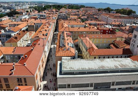Aerial View Of Zadar City, Croatia