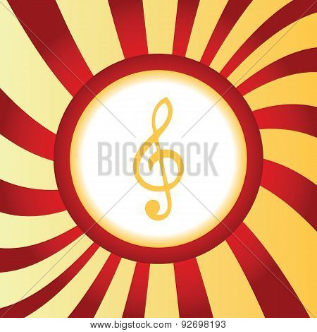 Treble clef abstract icon
