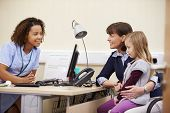 picture of nurse practitioner  - Appointment For Mother And Daughter With Nurse - JPG