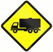 pic of tank truck  - Indonesian warning road sign  - JPG