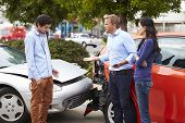 picture of driver  - Two Drivers Arguing After Traffic Accident - JPG