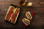 image of wiener dog  - All beef dogs variations nice hot dogs with beer differend sizes and delicious flavour - JPG