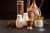 Постер, плакат: Concept Of Salt And Pepper Accessories