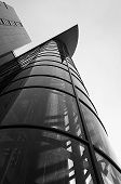pic of elevator  - Perspective of exterior elevator in monochrome - JPG