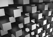 stock photo of three-dimensional  - Illustration of abstract mosaic three - JPG