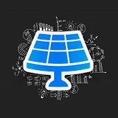 image of solar battery  - drawing business formulas - JPG
