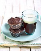 image of chocolate muffin  - Rocky road muffins - JPG