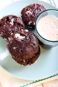 stock photo of chocolate-chip  - Rocky road muffins - JPG