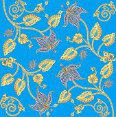 picture of precious stones  - illustration background with gold ornaments and precious stones - JPG