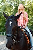 foto of horse girl  - Reveling in horse riding - JPG