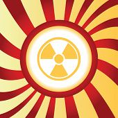foto of hazardous  - Yellow icon with image of radio hazard - JPG