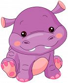 picture of amphibious  - Illustration of cute Hippo - JPG