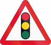 picture of traffic rules  - Hong Kong sign warning about traffic lights - JPG