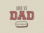 stock photo of greeting card design  - Creative text Dad on stylish background for Happy Father - JPG