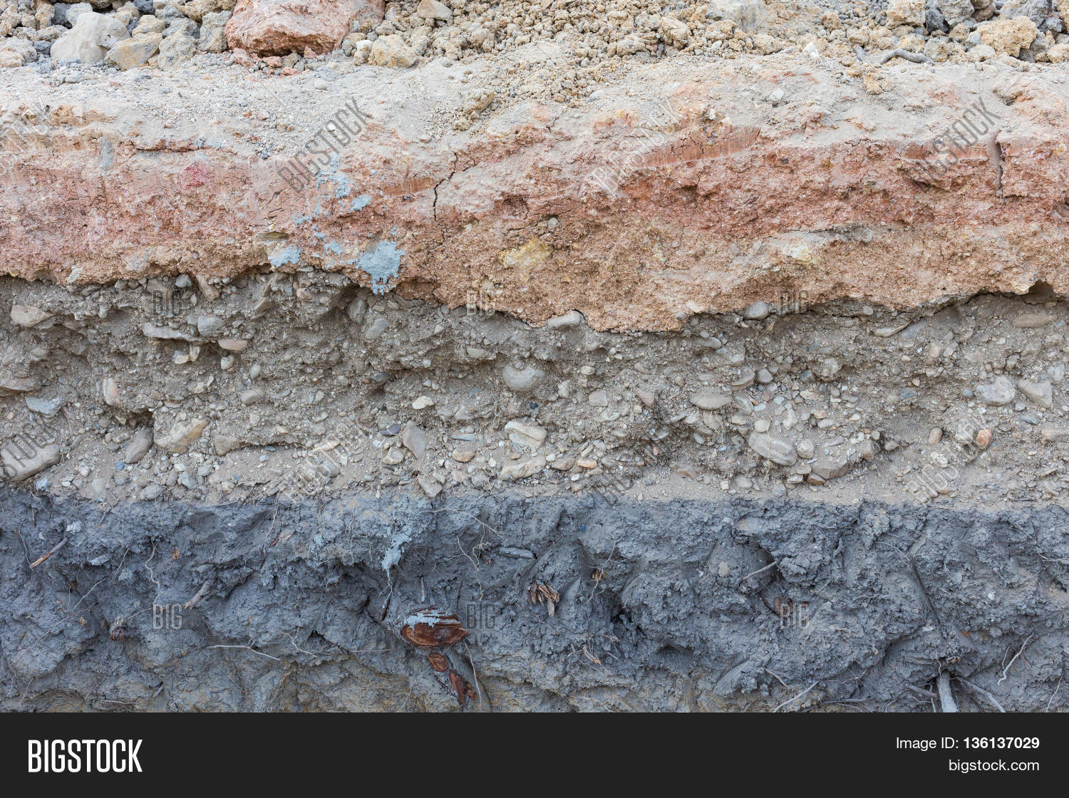 Imagen y foto soil layers underground earth bigstock for Earth soil layers
